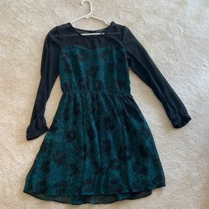 Jessica Simpson green and black dress size med